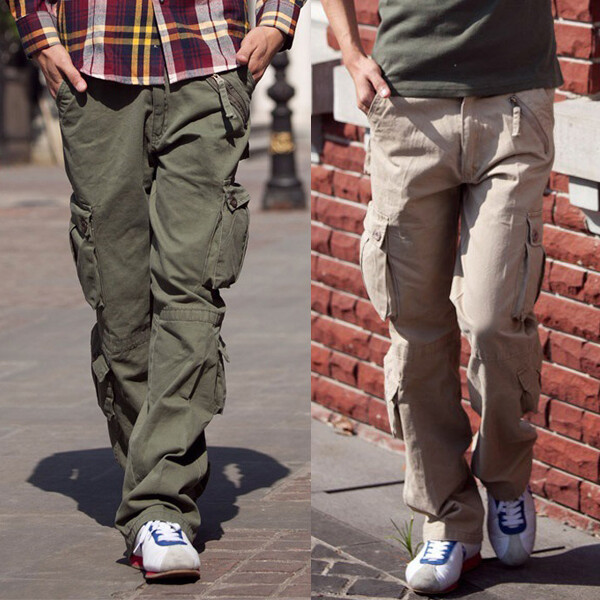 k02熱銷爆款多口袋戶外耐磨工作褲 休閒工裝褲 加大尺碼(2色可選/29-38)