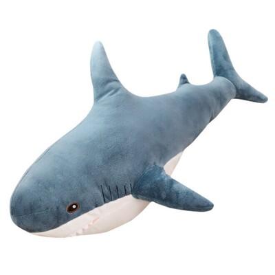 IKEA同款鯊魚玩偶 BLÅHAJ填充玩具/鯊魚布偶 80cm(網路爆紅) (5.3折)