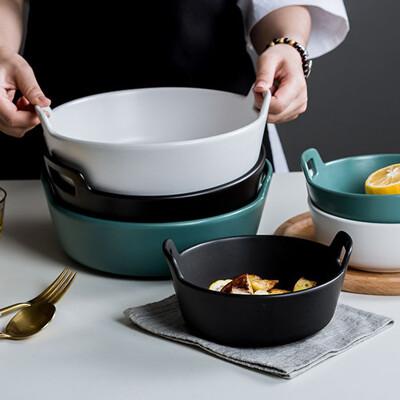北歐風雙耳烘焙烤盤/陶瓷鍋 (5.3折)