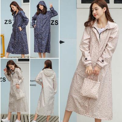 日系豹紋防水外套/風衣式雨衣/防塵衣