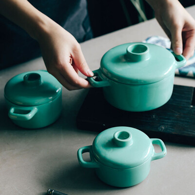北歐風雙耳多用陶瓷鍋 (5.5折)