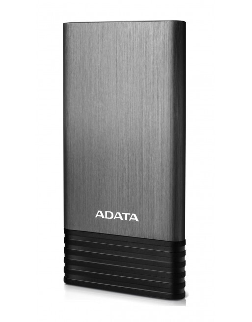 adata 威剛 x7000 雙 usb 輸出 行動電源薄型 鈦灰色