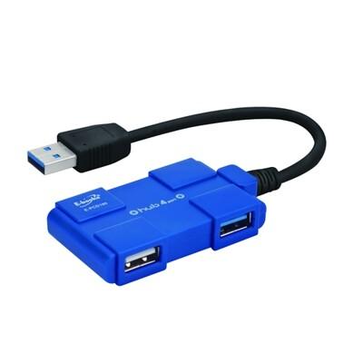 E-books H14積木款1孔USB3.0+3孔USB2.0Hub (7.7折)
