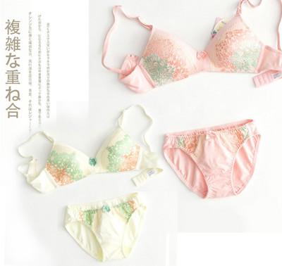 【LANNI藍尼】依奈川花漾日系無鋼圈內衣褲套組 (1.4折)