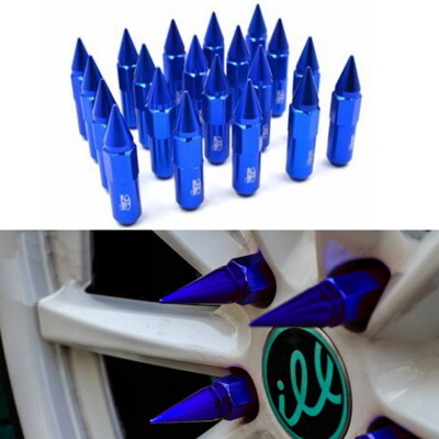 子彈型尖頭輪圈輪框鋁圈螺絲帽螺母螺帽組 一組20顆(