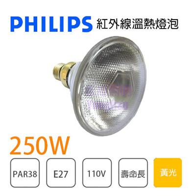 【永光】飛利浦 PAR38 250W E27 110V 紅外線燈泡 保溫燈泡 清光 醫療用途 (4.4折)