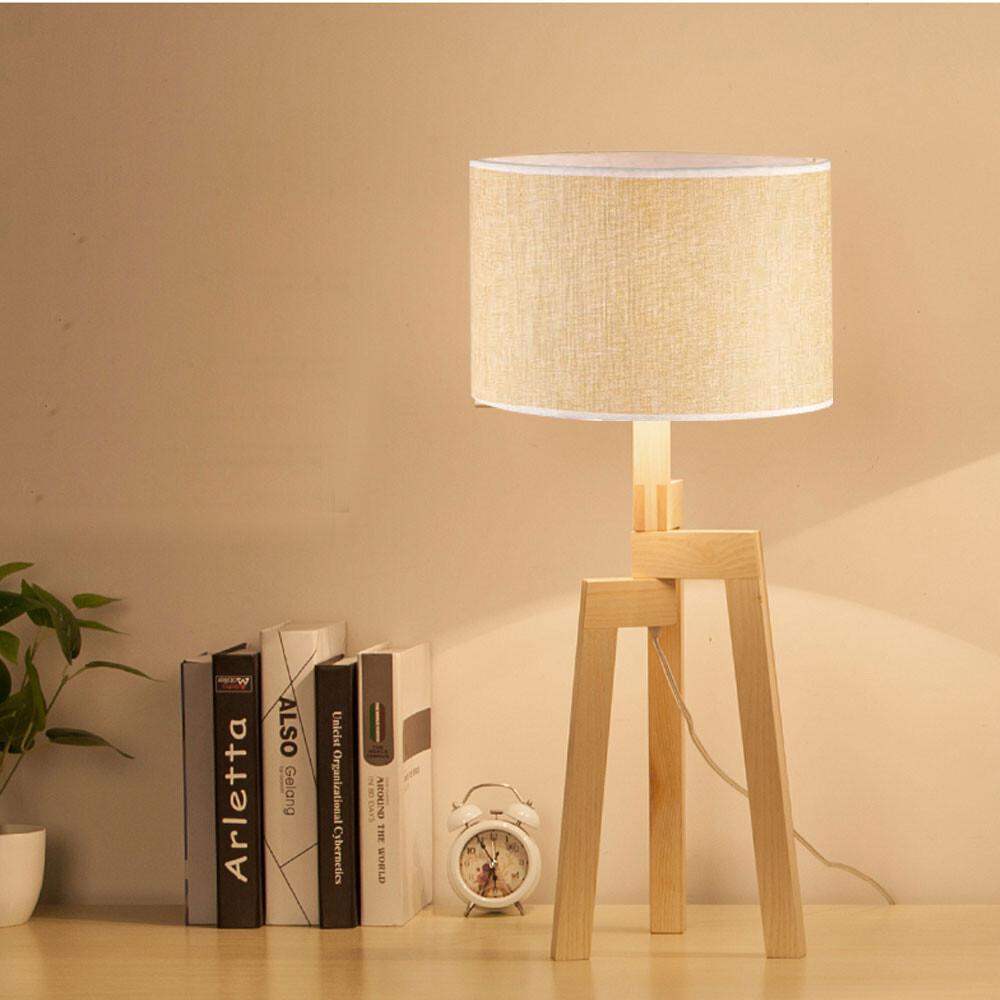永光北歐風 原木 手工布罩 書房 閱覽室 檯燈 桌燈 閱讀燈 附開關 光源另計 f4-b5465