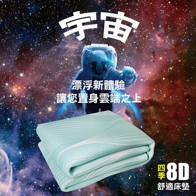【YAMAKAWA】8D四季涼墊(綠色水滴紋)/加大 (5折)