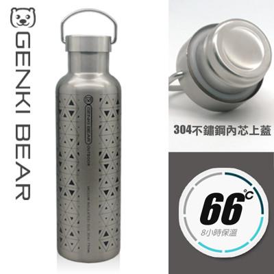 GENKI BEAR 純淨戶外保溫杯750ml 4色可選 (4.6折)