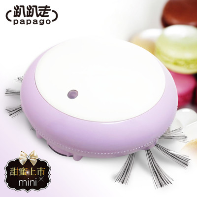 【趴趴走】MACARON馬卡龍迷你自動機器人吸塵器 (7.4折)