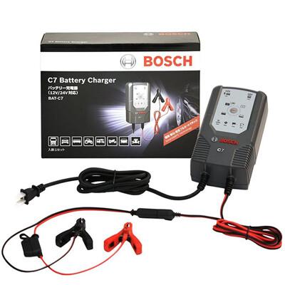 【BOSCH】博世 C7智慧型脈衝式電池充電器 12V/24V 適用機車/汽車電瓶充電器 (6.3折)