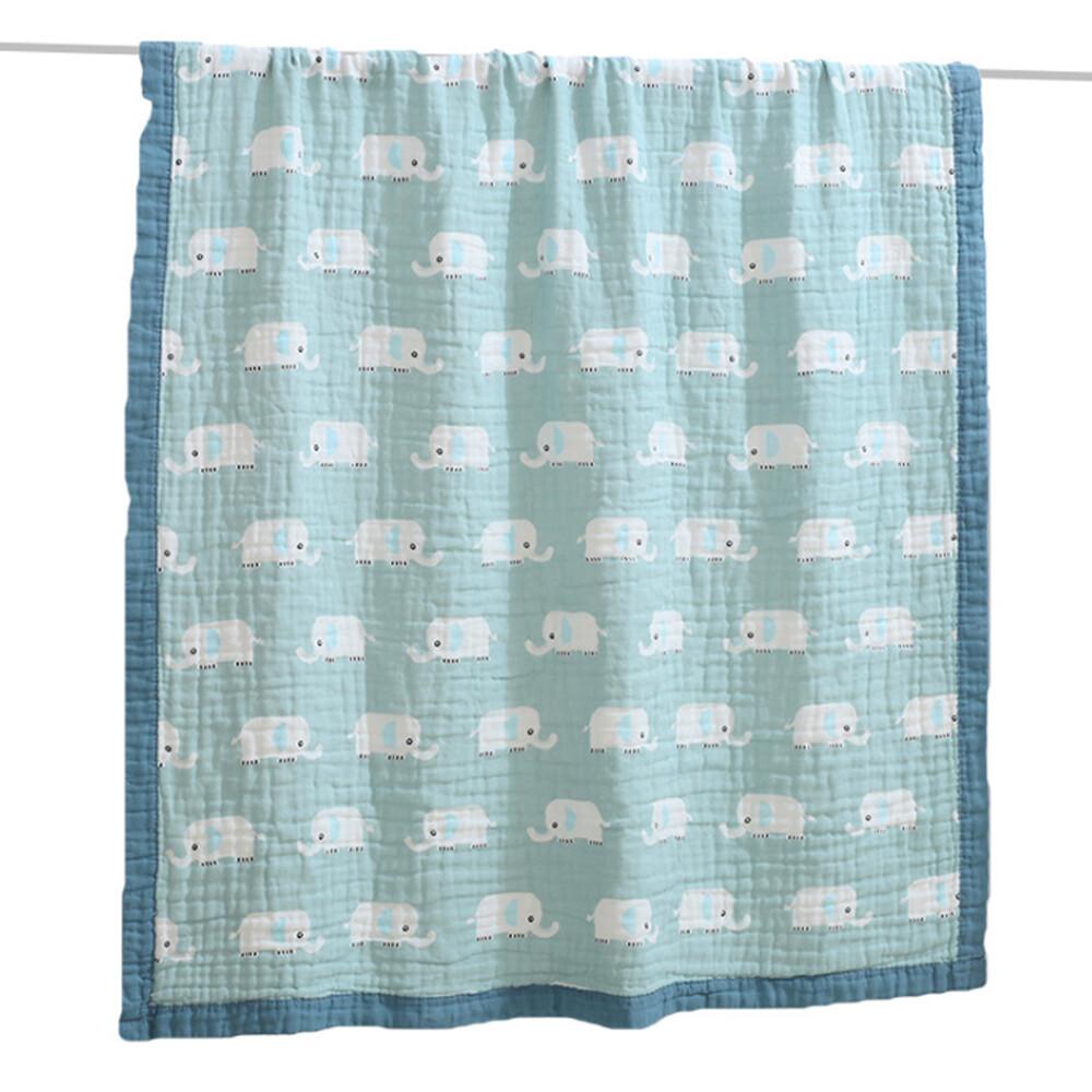 star baby童趣動物多功能純綿柔軟嬰幼兒水洗六層紗 布巾空調毯包巾