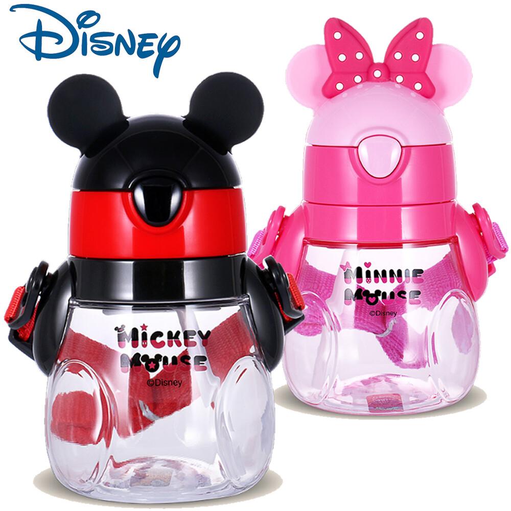 star baby迪士尼 米奇/米妮 可愛q版胖胖瓶造型卡通吸管水壺 440ml
