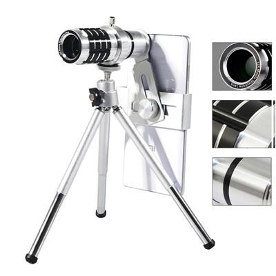 通用型手機12x長焦鋁合金望遠鏡頭 (4.5折)