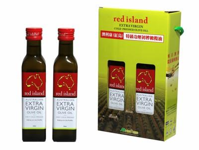 澳洲red island 特級冷壓初榨橄欖油250ml 雙入禮盒組 (8.1折)