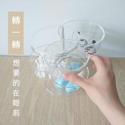 【目喜生活】旋轉飾品小物收納盒(4層收納) (7.8折)