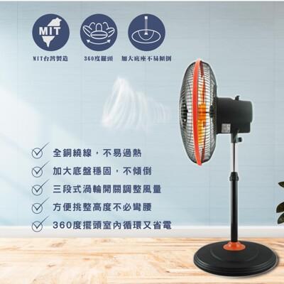【台灣通用科技G.MUST 】16吋 360度3D擺頭式立扇🌟台灣製造🌟