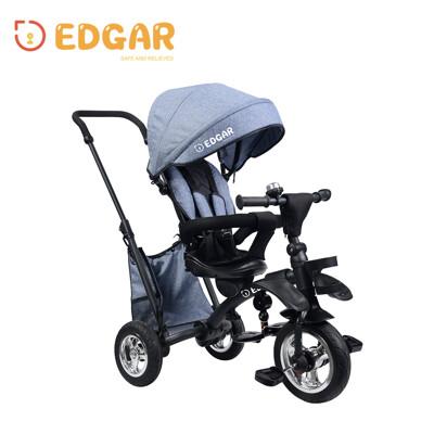 【Edgar】摺疊手推兒童三輪車腳踏車1-3周歲(手推車 輕便 折疊 嬰兒小孩童車2色可選) (9折)