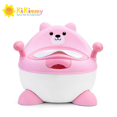 【kikimmy】小熊可升降兒童學習便器(2色可選) (7.5折)