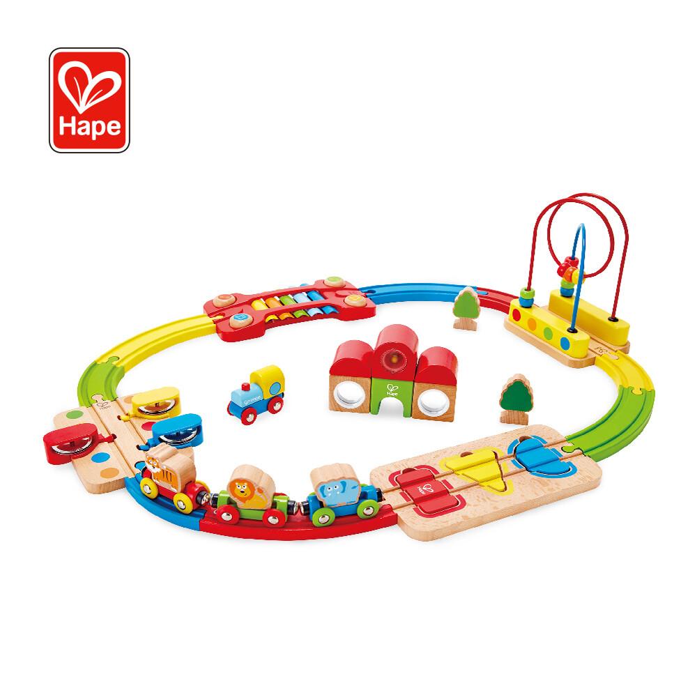 德國hape 彩虹音樂木製軌道玩具(木製軌道玩具)