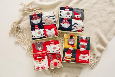 聖誕節交換禮物聖誕襪禮盒短棉襪 一入4雙【H81049】買一波大師 (3.1折)