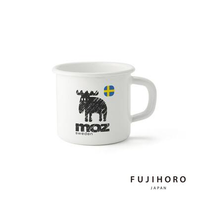買一波▶MOZ麋鹿 8CM琺瑯馬克杯(0.38L) 北歐風格 下午茶必備 療癒系餐具【Z210103 (5.4折)