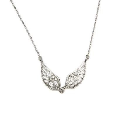 【CLUE】 銀色水晶翅膀項鍊 (5.6折)