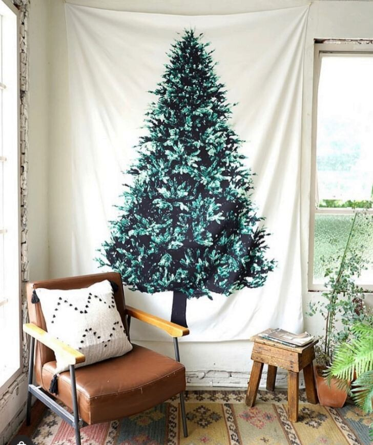 ig夯款 聖誕樹掛布(松樹掛毯) 75x150cm聖誕節/掛布/裝飾布/背景布