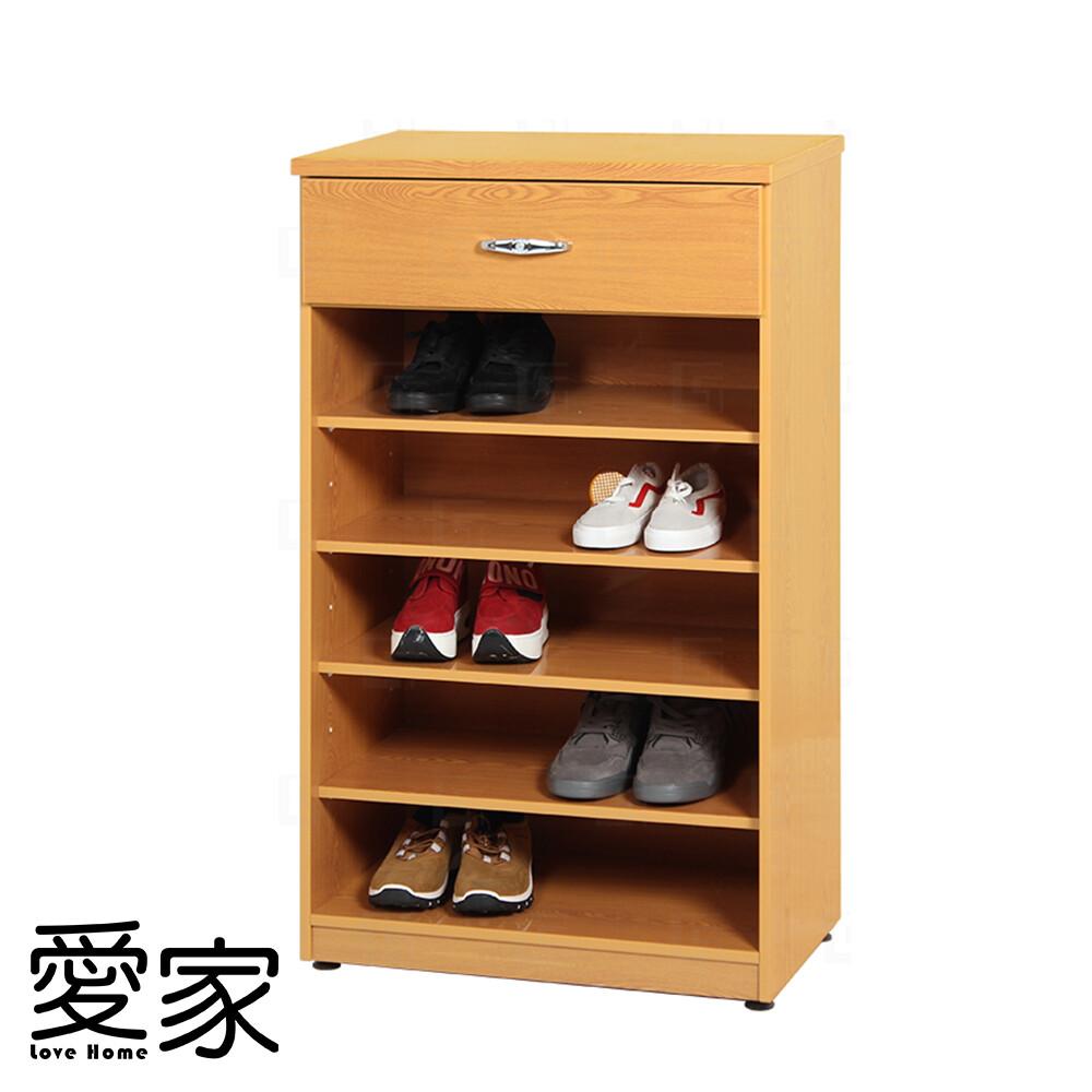 愛家防水塑鋼單抽開放式鞋櫃-寬65x深37x高112cm(四色可選)