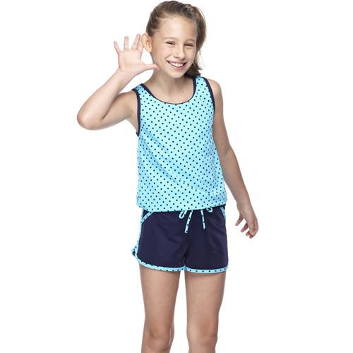 sarbismit中童兩件式連身泳裝附泳帽b82417