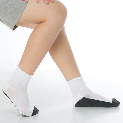keroppa3~6歲學童專用毛巾底氣墊短襪x4雙(男女適用)c93002-b