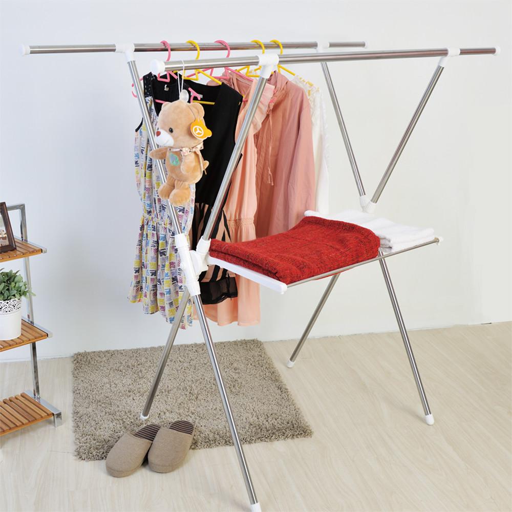 h&r安室家不鏽鋼三合一曬衣架-hgf21