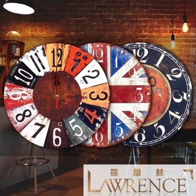 【羅蘭絲相框】歐美懷舊木質復古時鐘 最低↘$179元 壁掛掛鐘 居家佈置裝飾 (3.7折)