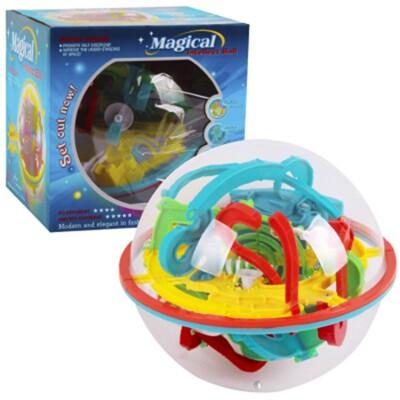 118關魔幻智力球 3D立體迷宮球 軌道魔術球 118關 飛碟球 迷宮軌道球 通關魔方 (6.5折)