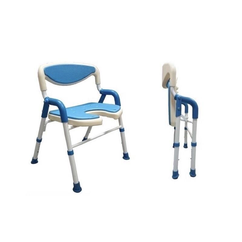 鋁合金折疊洗澡椅 可收合u型坐墊