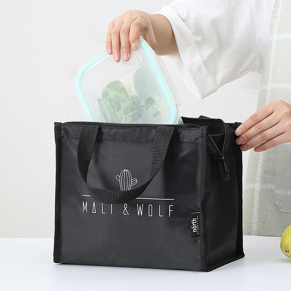 [全店滿499免運]簡單購清新簡約加厚防震保溫袋/保冰袋/便當袋/午餐袋hns079