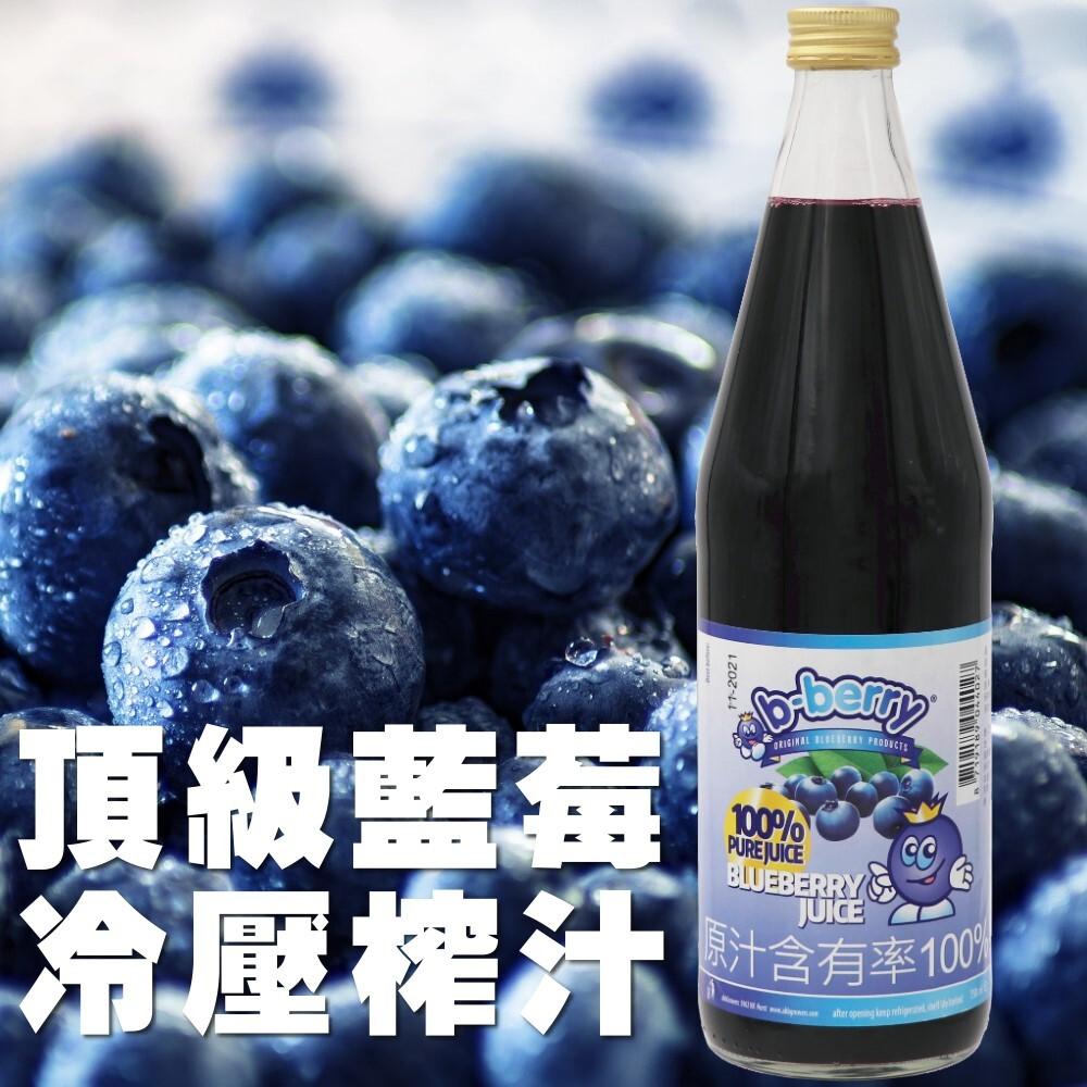 b-berry荷蘭碧貝瑞100%藍莓汁(750ml/瓶)