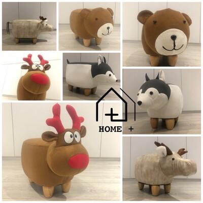 『Home+』可愛動物造型椅-迷你款 恐龍凳 草泥馬凳 羊駝凳 動物凳 小朋友穿鞋好朋友 (5折)