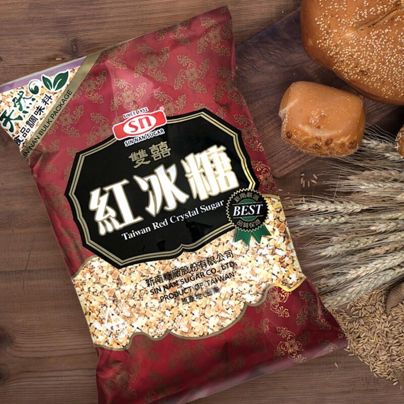 新南糖廠雙喜冰糖  紅冰糖_糖葫蘆/滷豬腳/滷製品/甜湯 (粗細顆粒2.8kg/包)