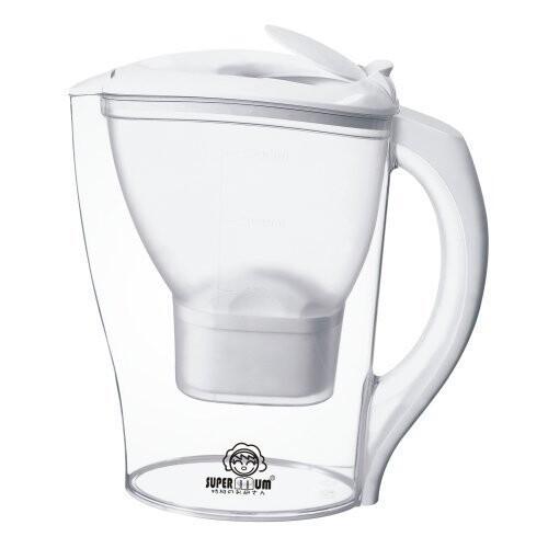 supermum 活性碳淨化濾水壺 家用 廚房 濾水器 淨水器 淨水壺 大容量2.5l 濾芯三入
