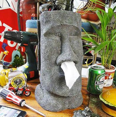 摩艾MOAI鼻涕搞怪衛生紙盒 復活節島石像人臉像面紙抽面紙盒 (5.4折)