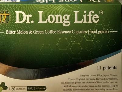 Dr . Long Life 肽博士多國專利定序苦瓜胜肽&綠咖啡精華膠囊(60粒/盒) (5.7折)