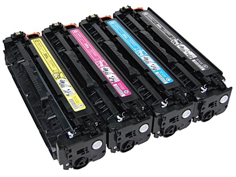 福利品 ce410a/ce411a/ce412a/ce413a(四色一組)裸裝全新 hp原廠黑色碳粉