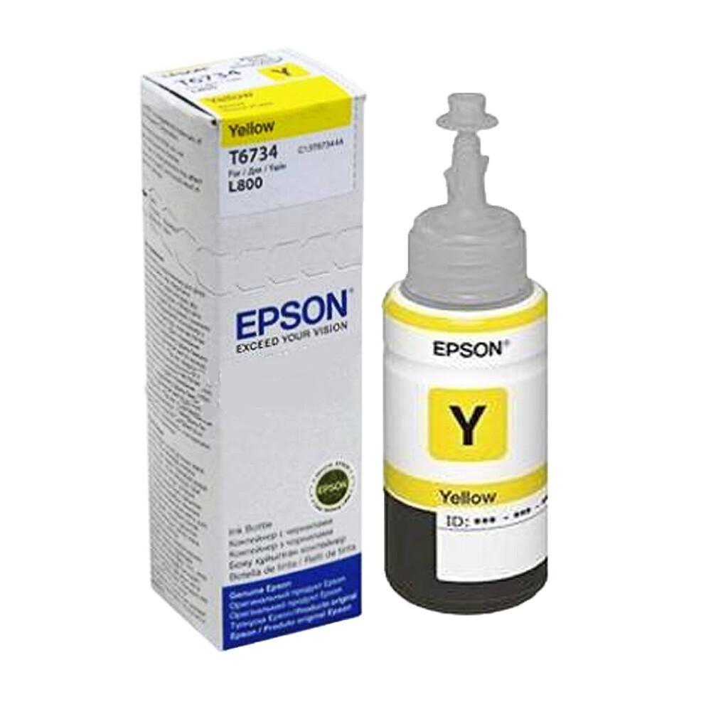 t673400 epson 原廠 黃色墨水匣 適用 l800/l805/l1800