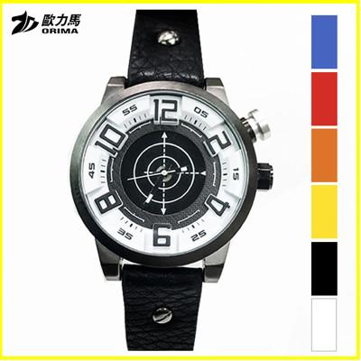 歐力馬EX2帥氣金屬感設計日本機芯防水錶附贈鐵盒 (3.2折)
