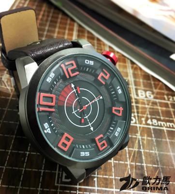 歐力馬EX2帥氣金屬感設計日本機芯防水錶附贈鐵盒 (1.7折)