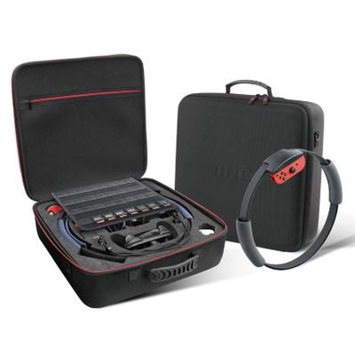 良值 NS Switch《全配件豪華收納箱 收納包》 一次收納Switch主機+健身環 L306