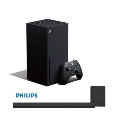 【少量現貨】Xbox Series X《主機 光碟版》+《飛利浦聲霸環繞音響》 (10折)