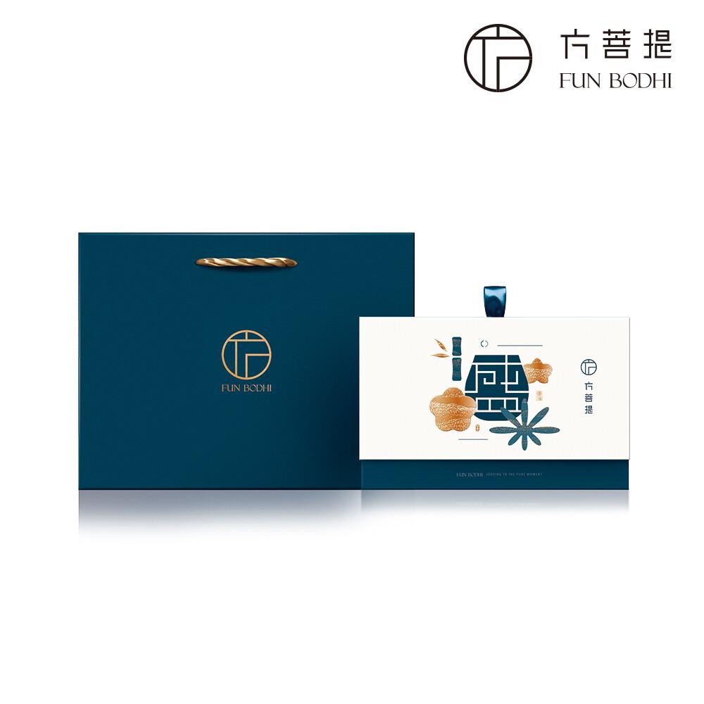 方菩提盛-嚴選香水蓮花茶禮盒組+雙層透明杯禮盒組