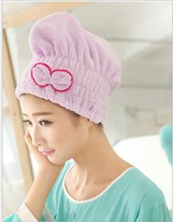 超纖細超強吸水蝴蝶結乾髮帽 (2.5折)